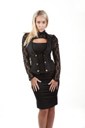Melissa gothic waistcoat in black twill