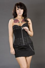 Mercy clubwear mini skirt in black twill