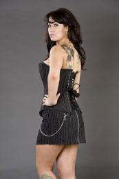 Mercy rockabilly pinstripe mini skirt