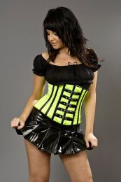 Micra clubwear mini skirt in black PVC