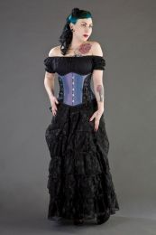 Mistress underbust waist training corset in lilac taffeta