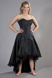 Monroe corset dress in black taffeta
