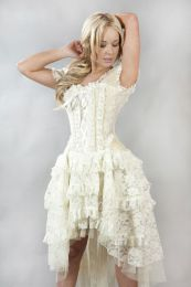 Ophelie vintage corset dress in cream taffeta