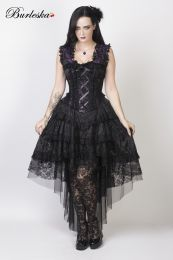 Ophelie burlesque corset dress in purple king brocade