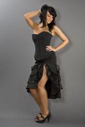 Pinup knee length burlesque pinstripe skirt