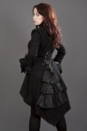 Pirate coat for ladies in black fleece