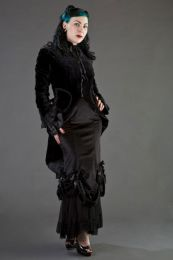 Pirate women's coat in black velvet