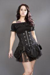 Pirate mini skirt in black twill