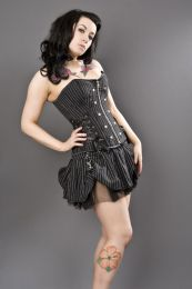 Rock overbust rockabilly corset in pinstripe