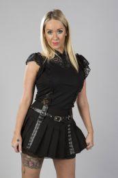 Rosetta ladies gothic top in black