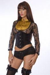 Sexy waspie waist cincher in black velvet