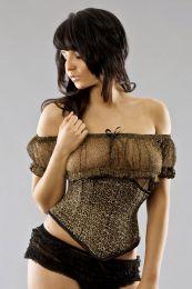 Sexy waspie waist cincher in leopard print