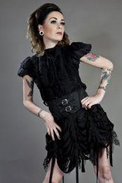Shadow gothic mini skirt in black cotton