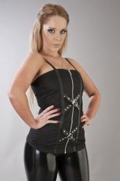 Steffi punk rock corset top in black twill