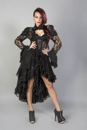 Valentina victorian gothic jacket in black lace
