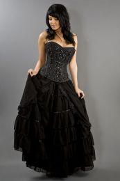 Victorian gothic black chiffon maxi skirt