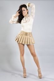 Victorian long sleeve vintage top in cream lace