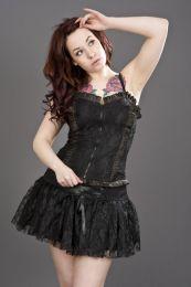 Viva clubwear mini skirt in black twill