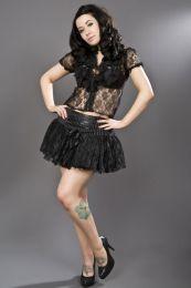 Viva pinstripe mini skirt