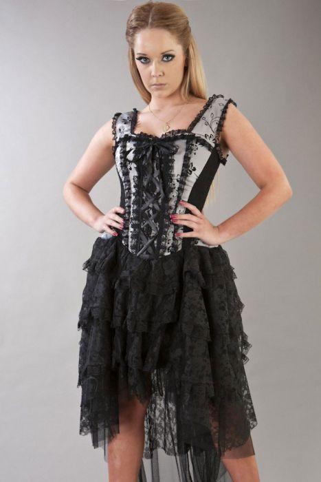 Silver Corset Dress