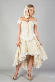 cream corset with zip  bridal corsets  athena  burleska