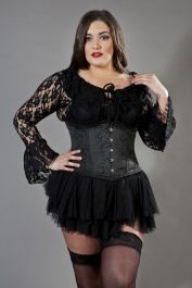 black corset for large ladies  size 40 waist  candy