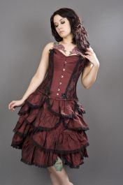 steel boned corsets  burgundy corset  chantelle  burleska