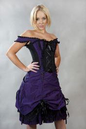 victorian dress  purple corset dress  dita  burleska
