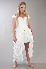 white wedding corset  corset for wedding  duchess  burleska