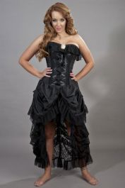 corset dress  black corset dress  elizabeth  burleska