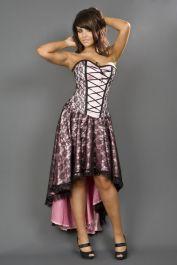 burlesque dresses  pink corset dress  mollflanders