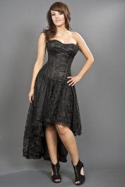 victorian dress  black corset dress  mollflanders  burleska