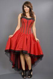 burlesque dresses  red corset dress  monroe  burleska