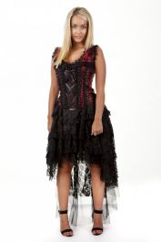 red corset dress  corset dresses  ophelie  burleska