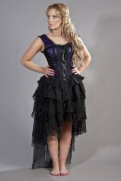 victorian gothic dress  purple corset dress  ophelie