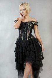 vintage corset dress  gold corset dress  ophelie  burleska